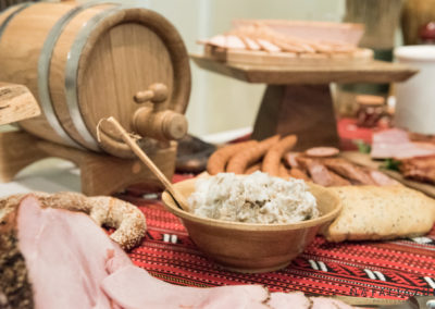 """Country Table"" It comes from the old -world wedding tradition, a spread of sausages,pates,meats,pickles,cheeses,bread and more..."